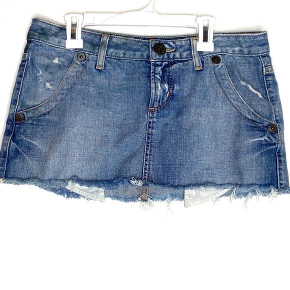 Guess Dresses & Skirts - Guess jeans ultra mini jean skirt